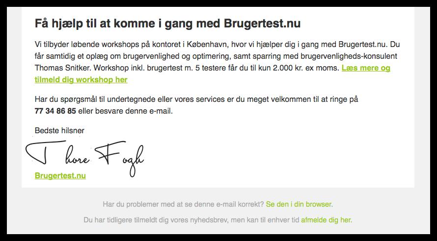 Nyhedsbrev fra Brugertest