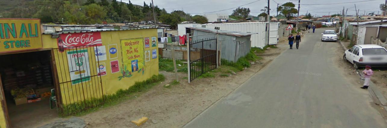 Google Street view fra Selinas gade - eller i hvert fald der omkring